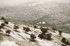 Schnee in den Atlas-Bergen - Marokko Lizenzfreies Stockfoto