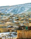 Schnee in den großartigen Caucausis-Bergen Lizenzfreie Stockfotografie
