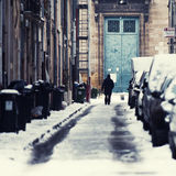 Schnee in der Bordeauxstadt Lizenzfreie Stockfotografie