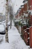 Schnee in der London-Straße lizenzfreies stockbild