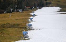 Schnee, der Maschine herstellt Stockbilder