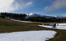 Schnee, der Maschinen herstellt Lizenzfreie Stockfotografie