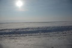 Schnee in der Sonne stockfotografie