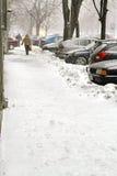 Schnee in der Stadt Lizenzfreie Stockbilder
