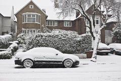 Schnee in der Straße von London Stockfotografie