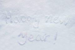 Schnee des neuen Jahres lizenzfreies stockbild
