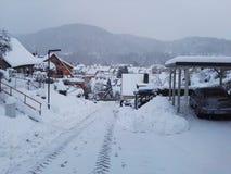 Schnee in Deutschland lizenzfreie stockfotografie