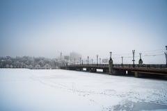 Schnee Donetsk, Ukraine Stockfotografie