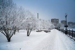 Schnee Donetsk, Ukraine stockbilder