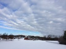 Schnee-Feld Stockbilder