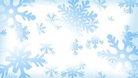 Schnee-Flocken-Hintergrund stock abbildung