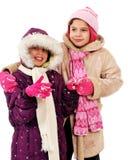 Schnee-Freunde stockfoto