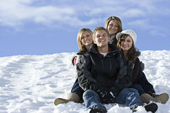 Schnee-Freunde Lizenzfreie Stockfotografie