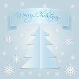 Schnee-frohe Weihnachten Stockbild