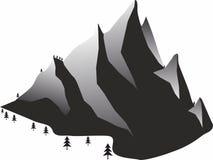 Schnee-Gebirgsikonen für bewegliche Konzept und Netz apps Stockfotografie