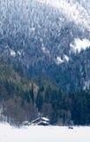 Schnee-Gebirgstal stockbild