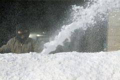 Schnee-Gebläse Stockbild