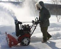 Schnee-Gebläse Lizenzfreies Stockfoto