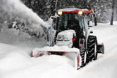 Schnee-Gebläse Lizenzfreie Stockfotografie