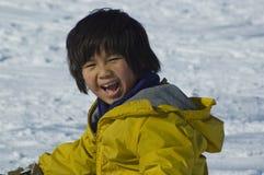 Schnee glücklich Lizenzfreies Stockfoto