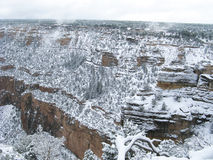 Schnee am Grand Canyon Lizenzfreies Stockbild