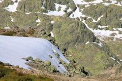 Schnee gredos Berge Lizenzfreies Stockfoto