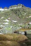 Schnee gredos Berge in Avila Lizenzfreie Stockfotografie