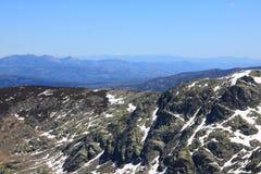 Schnee gredos Berge in Avila Stockfotografie