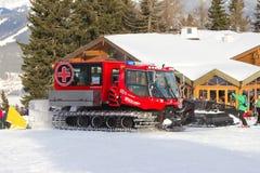 Schnee Groomer Stockfotografie
