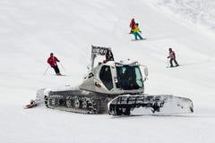 Schnee Groomer Stockfotos