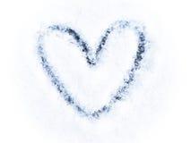 Schnee-Herz stockfoto