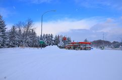 Schnee in Hokkaido stockbild