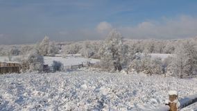 Schnee im April Lizenzfreies Stockbild
