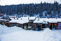 Schnee im Dorf von China Stockfoto