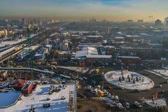 Schnee im Kiew lizenzfreies stockbild