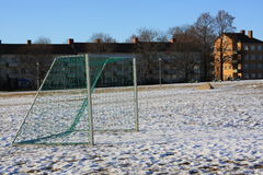 Schnee im Park Lizenzfreies Stockbild