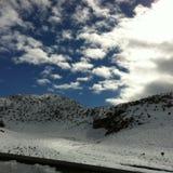 Schnee im Sahara Stockbilder