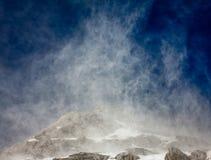 Schnee im Wind Stockfotos