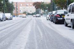 Schnee in Israel. 2013. Stockfotografie