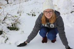 Schnee in Israel Lizenzfreie Stockbilder