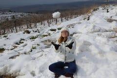 Schnee in Israel Lizenzfreie Stockfotografie