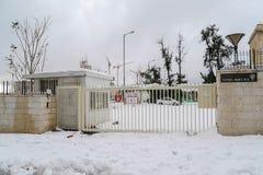 Schnee in Jerusalem Stockbilder