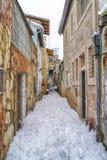 Schnee in Jerusalem Stockfotos