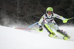 Schnee-Königin-Trophäe 2019 - Damen-Slalom stockfotos