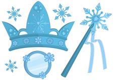 Schnee-Königin-Zubehör Lizenzfreie Stockbilder