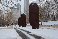 Schnee-Köpfe Stockfotos