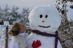 Schnee-Küsse Lizenzfreies Stockfoto