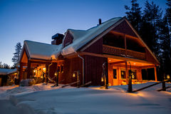 Schnee-Kabine Lizenzfreie Stockbilder