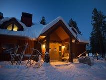 Schnee-Kabine Stockfotografie