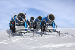 Schnee-Kanonen Stockfoto